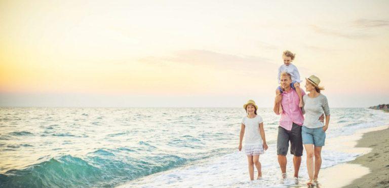 leven met leven met diabetes sporten en bewegen strand familie