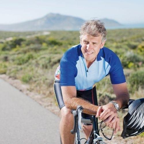 sporten en bewegen leven met diabetes fiets man