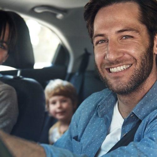 leven met diabetes auto kind man glimlach