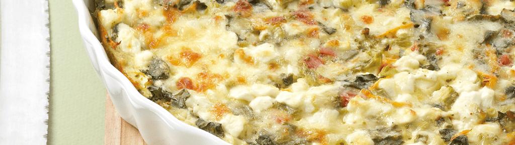 Veggie ovenschotel met Italiaanse kazen