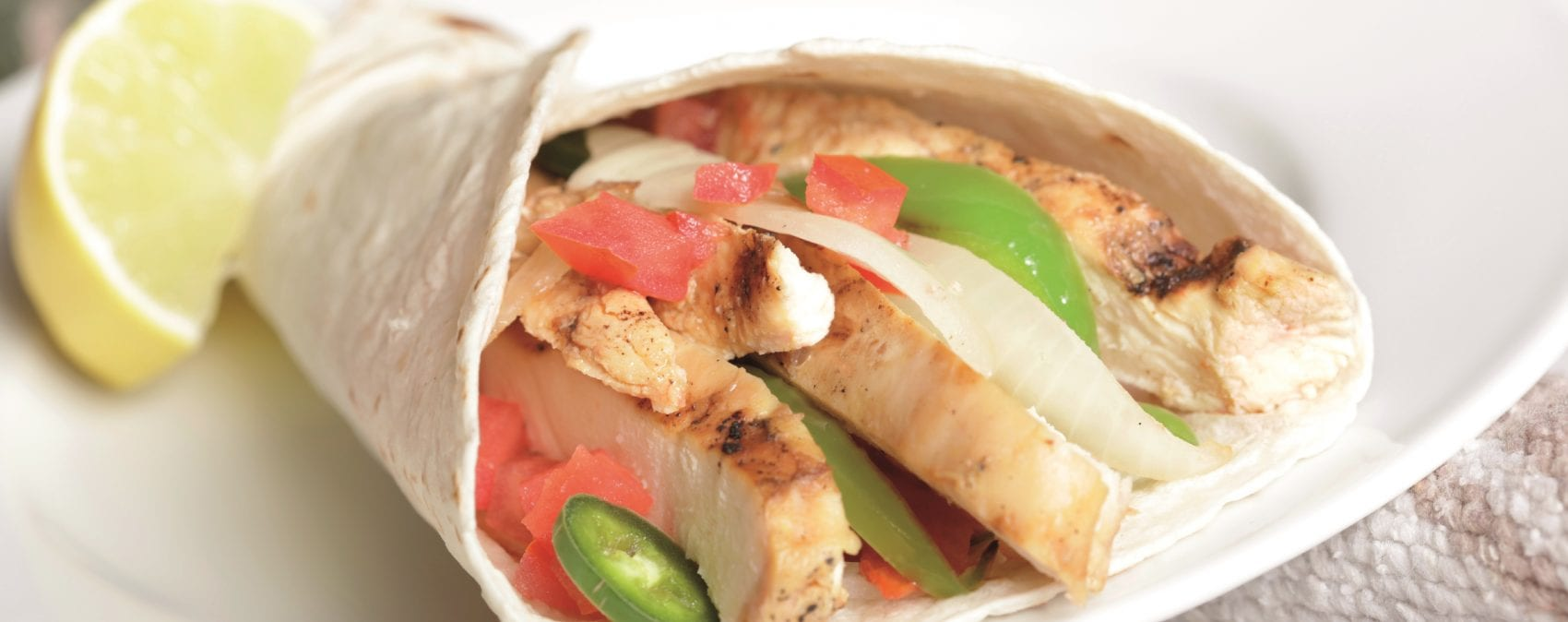 Burritos met gegrilde citruskip