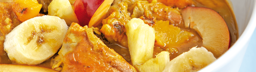 Fruitige kip curry met mango chutney