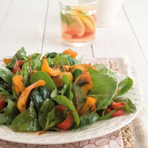 Salade geroosterde flespompoen