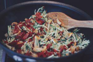 Diabetesrecepten stap 4 low-carb spaghetti