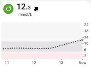 Leven met diabetes glucosesensor metingen