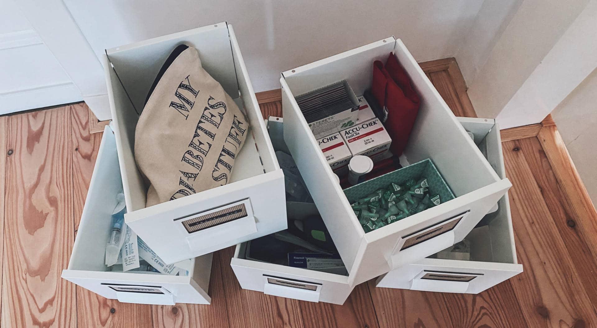 Het organiseren van mijn 'diabetesspulletjes'
