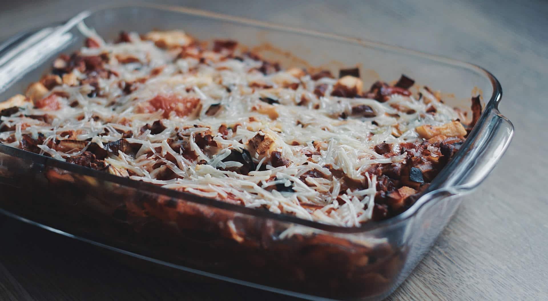 Vegan en low carb courgette lasagne